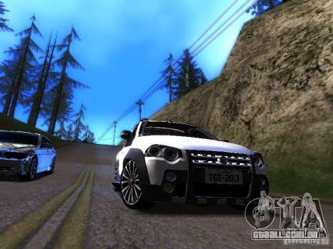 Fiat Strada para GTA San Andreas esquerda vista