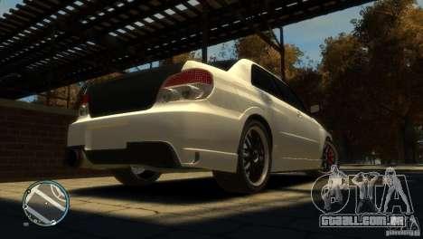 Subaru Impreza 2005 para GTA 4 vista de volta