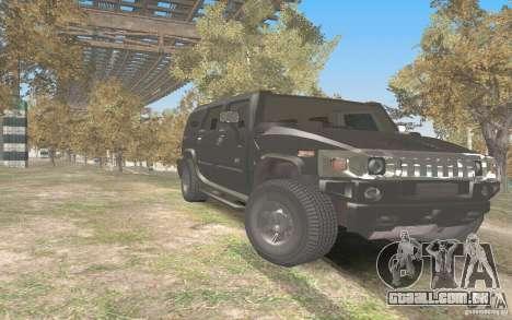 Hummer H2 Stock para GTA San Andreas vista traseira