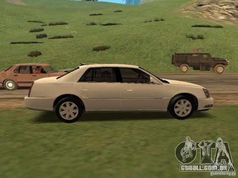 Cadillac DTS 2010 para GTA San Andreas traseira esquerda vista