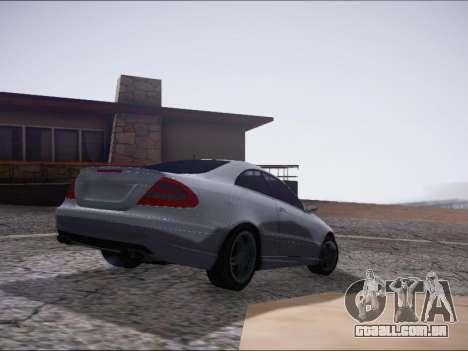 Mercedes-Benz CLK para GTA San Andreas traseira esquerda vista