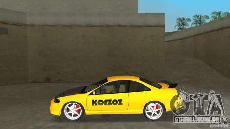 Honda Accord Coupe Tuning para GTA Vice City deixou vista