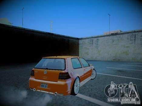 Volkswagen Golf Mk4 R32 para GTA San Andreas traseira esquerda vista
