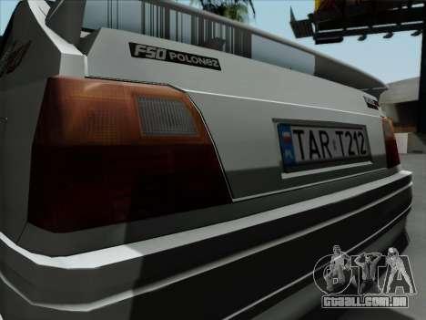 FSO Polonez Caro Orciari 1.4 GLI 16v para GTA San Andreas vista direita