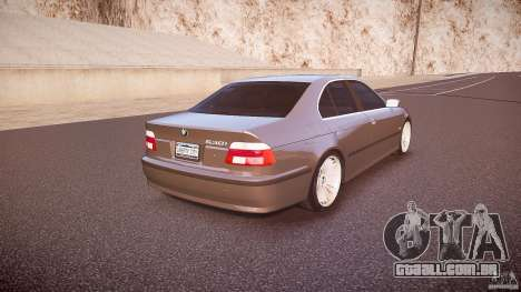 BMW 530I E39 stock white wheels para GTA 4 vista lateral