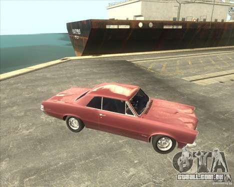Pontiac GTO 1965 para GTA San Andreas vista traseira