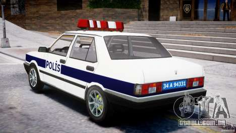 Tofas Sahin Turkish Police v1.0 para GTA 4 traseira esquerda vista