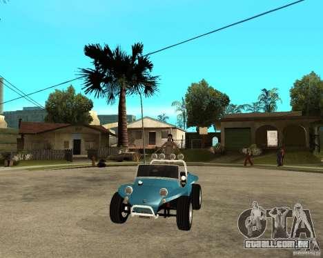 Volkswagen Dune Buggy para GTA San Andreas vista traseira