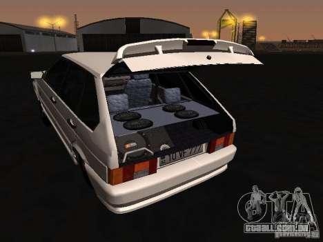 ВАЗ 2114 Bully para GTA San Andreas vista interior