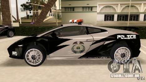 Lamborghini Gallardo Police para GTA Vice City deixou vista