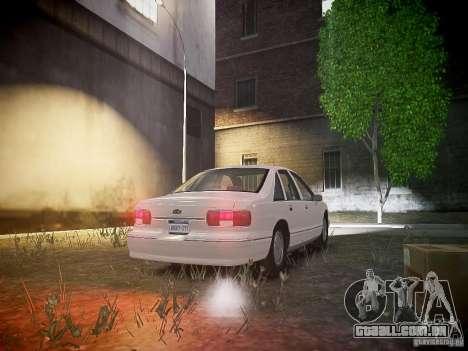 Chevrolet Caprice 1993 Rims 1 para GTA 4 vista de volta