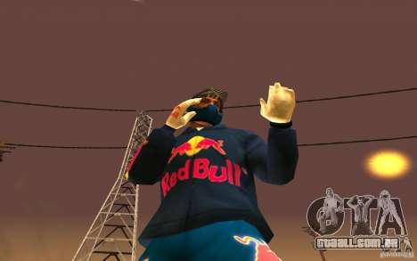 Red Bull Clothes v1.0 para GTA San Andreas sexta tela