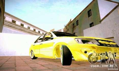 Lada Grant ouro para GTA San Andreas vista interior