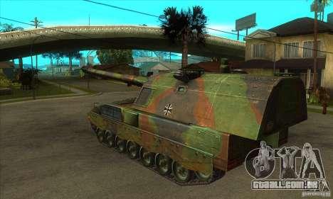 Panzerhaubitze 2000 para GTA San Andreas traseira esquerda vista