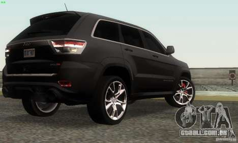 Jeep Grand Cherokee SRT8 para GTA San Andreas esquerda vista