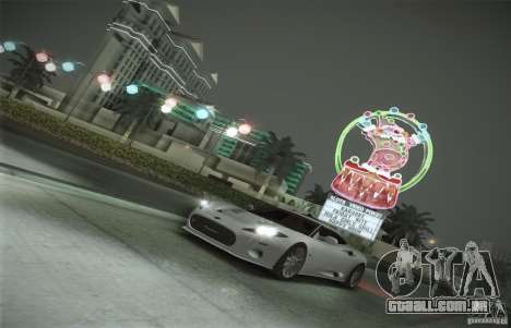 Spyker C8 Aileron para GTA San Andreas vista inferior