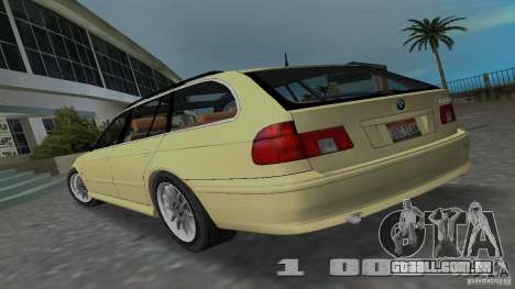 BMW 5S Touring E39 para GTA Vice City deixou vista