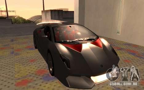 Lamborghini Sesto Elemento 2011 para GTA San Andreas esquerda vista