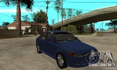 Chevrolet Optra 2011 para GTA San Andreas vista traseira