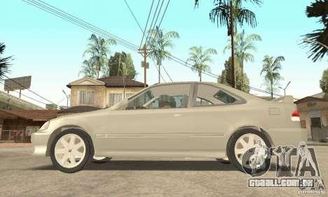 Honda Civic 1998 para GTA San Andreas vista direita