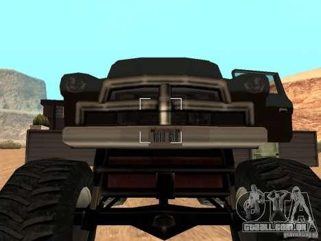 Walton Monster para GTA San Andreas vista traseira