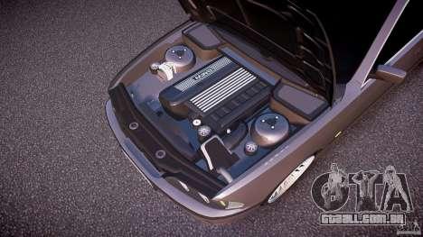 BMW 530I E39 stock white wheels para GTA 4 vista inferior