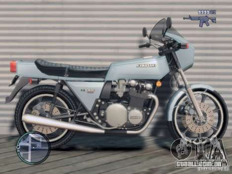 Kawasaki Z1-R para GTA 4 esquerda vista