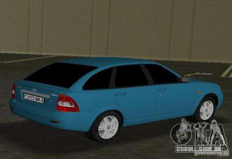 Lada Priora Hatchback para GTA Vice City vista direita