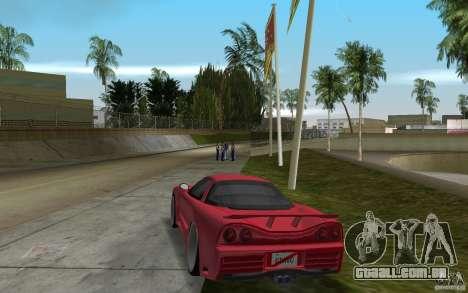 Acura NSX 2004 Veilside para GTA Vice City vista traseira esquerda