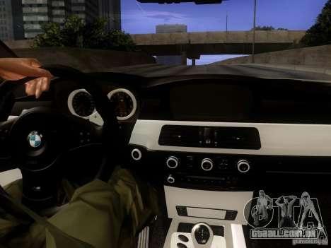BMW M5 E60 2009 para GTA San Andreas vista interior