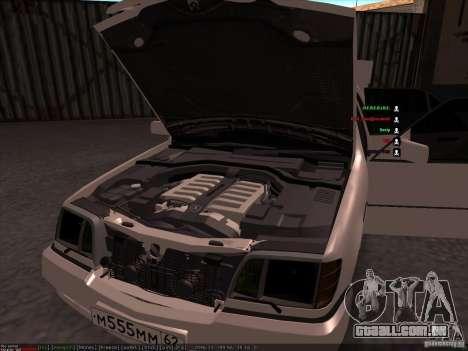 Mercedes-Benz 600SEL AMG 1993 para GTA San Andreas vista superior