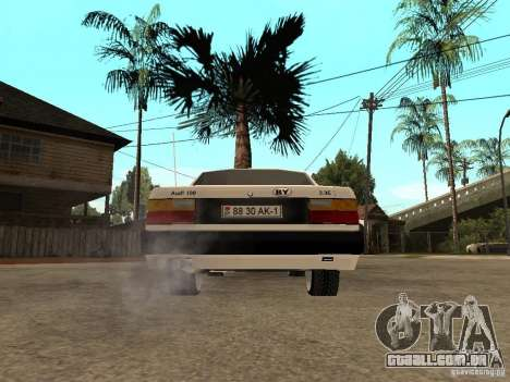 Audi 100 para GTA San Andreas traseira esquerda vista