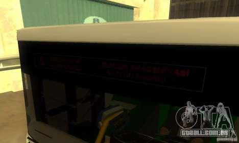 Daewoo Bus BC211MA para GTA San Andreas traseira esquerda vista