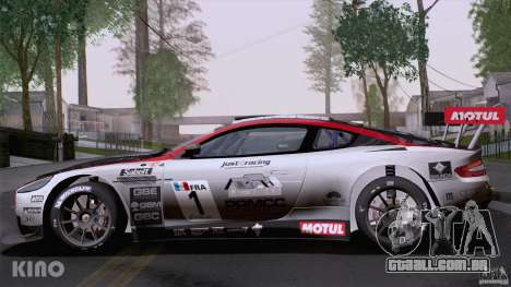 Aston Martin Racing DBRS9 GT3 para GTA San Andreas vista inferior