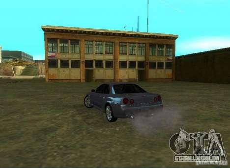 Nissan Skyline GTR-34 para GTA San Andreas traseira esquerda vista