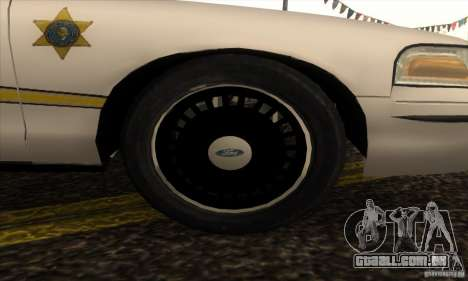Ford Crown Victoria Illinois Police para GTA San Andreas vista direita