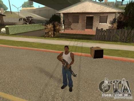 Light Machine Gun Dâgterëva para GTA San Andreas quinto tela