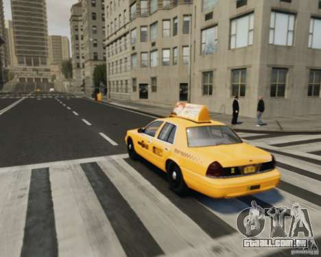 Ford Crown Victoria NYC Taxi 2012 para GTA 4 vista interior