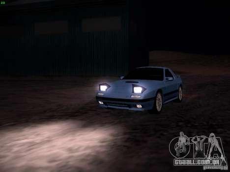 Mazda RX-7 FC3S para GTA San Andreas vista traseira