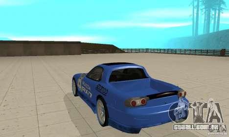 Mazda RX-7 Pickup para GTA San Andreas vista direita
