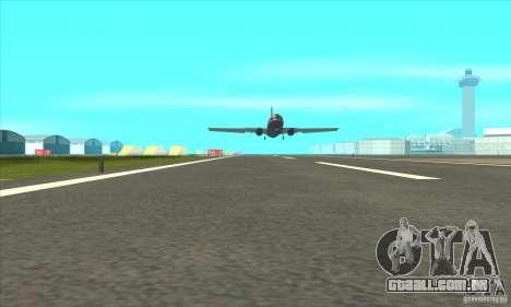 Revitalização dos aeroportos para GTA San Andreas segunda tela