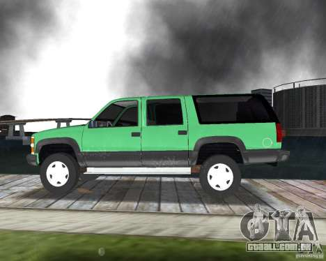 Chevrolet Suburban 1996 para GTA Vice City vista direita
