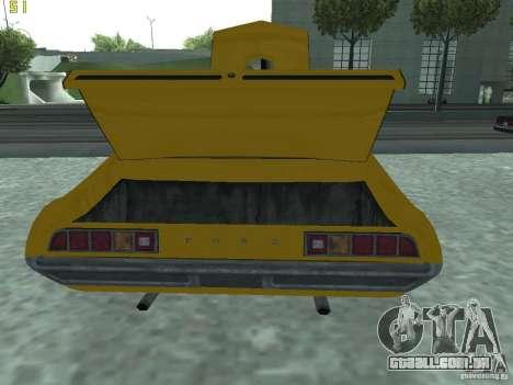 Ford Torino 70 para GTA San Andreas vista traseira