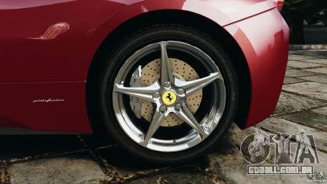 Ferrari 458 Italia 2010 v2.0 para GTA 4 vista superior
