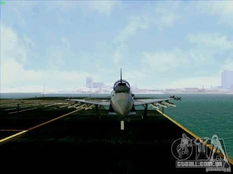 Eurofighter-2000 Typhoon para GTA San Andreas vista traseira