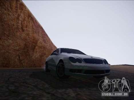 Mercedes-Benz CLK para GTA San Andreas vista direita
