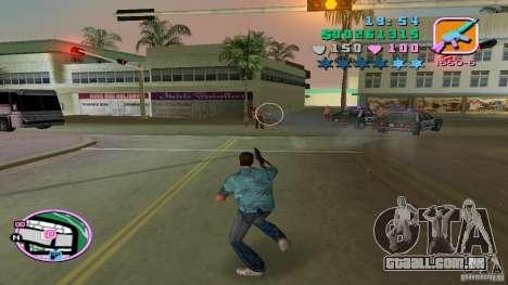 Fotografar com uma mão para GTA Vice City por diante tela