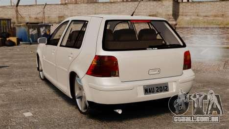 Volkswagen Golf Flash Edit para GTA 4 traseira esquerda vista