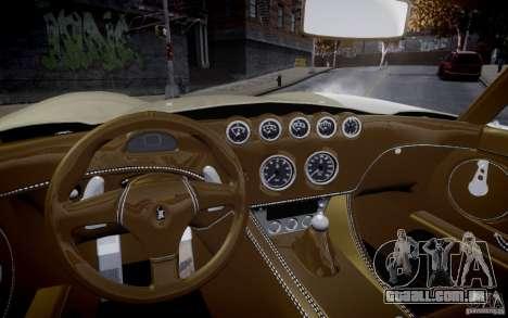 Wiesmann MF3 Roadster Final para GTA 4 vista direita