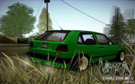 VW Golf MK2 Stanced para vista lateral GTA San Andreas